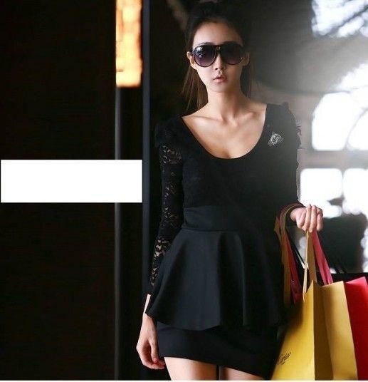 New Korean Women Ladies dress Lace Mini Party Club Skirt Cocktail