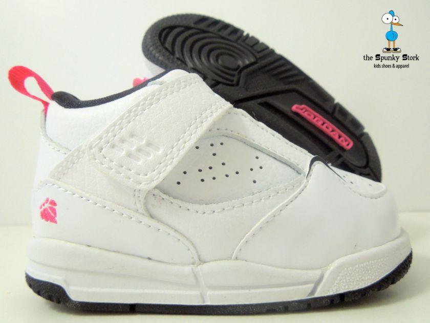 Nike Baby Girls Jordan Flight 45 Td Infant White Pink 4c