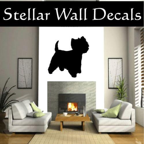 Terrier Westie 2 Dog Wall Car Vinyl Decal Sticker