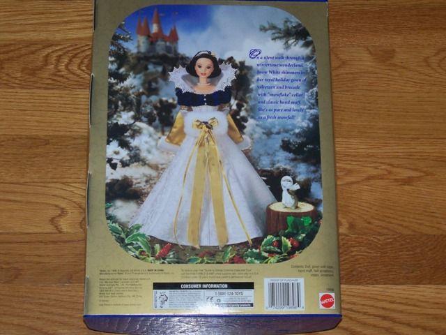 Barbie Doll   Holiday Princess Snow White *NIB* Disneys Seven Dwarfs