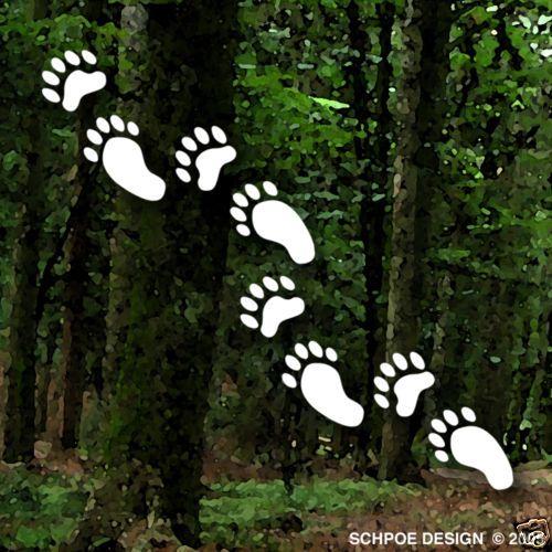 Mini BLACK BEAR TRACKS stickers bow hunting decals hunt