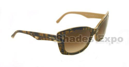NEW PRADA SUNGLASSES SPR 03N BROWN BF3 6S1 SPR03N AUTH