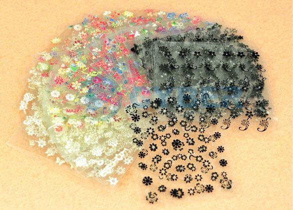 3D Design Tip Nail Art Sticker Decal Manicure Mix Color Flower HOT NEW