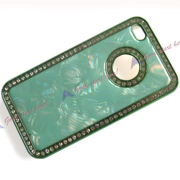 Crystal Marble Case Luxury Bling Diamond Cover For iPhone 4 4G 4S 4GS
