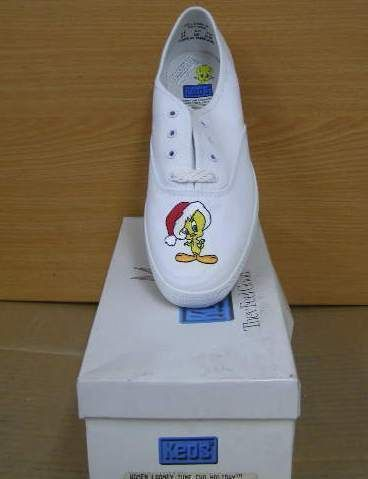 keds shoes women sneakers white looney tunes tweety NIB free shipping
